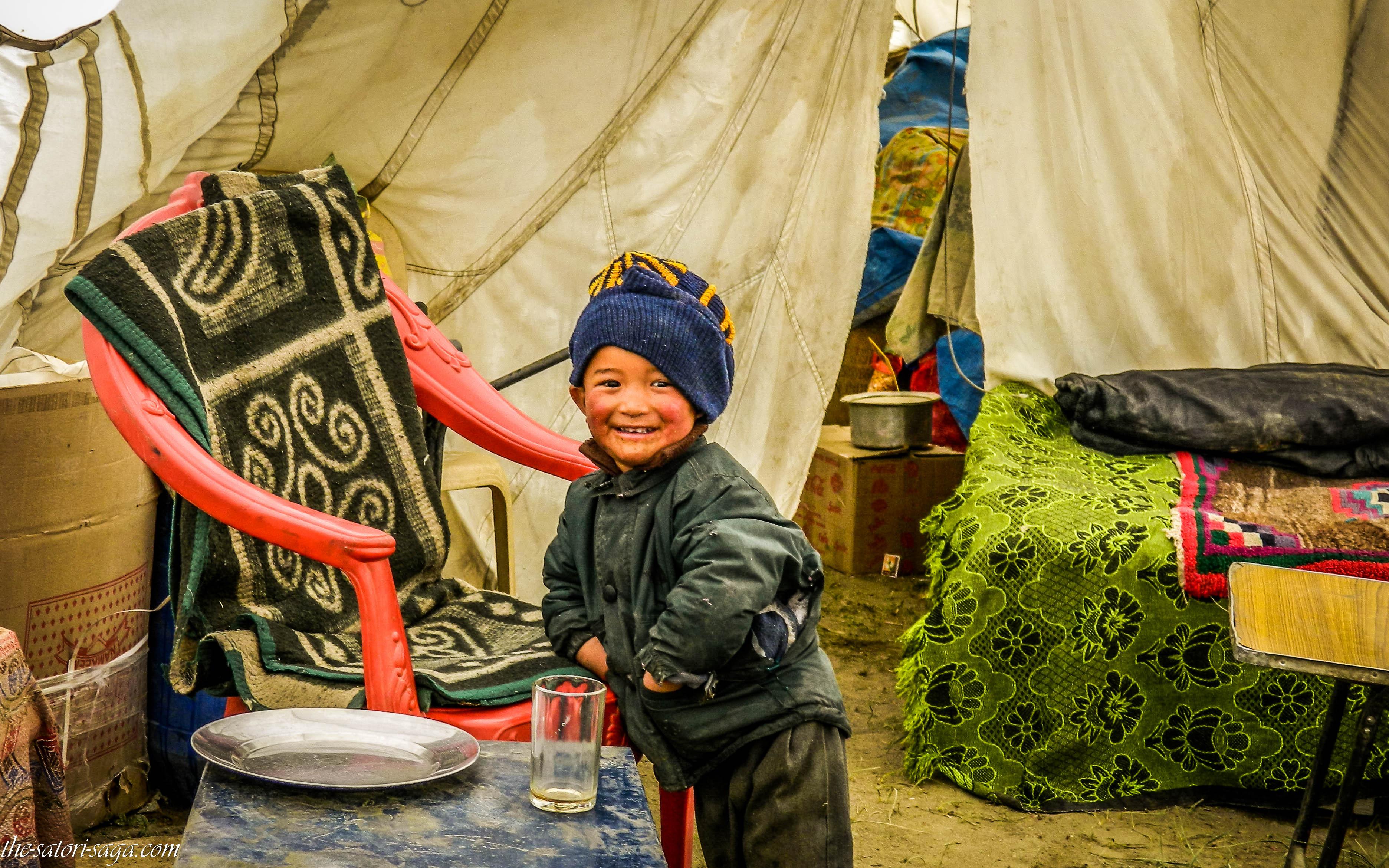 Happy little sweetheart in Tsokar