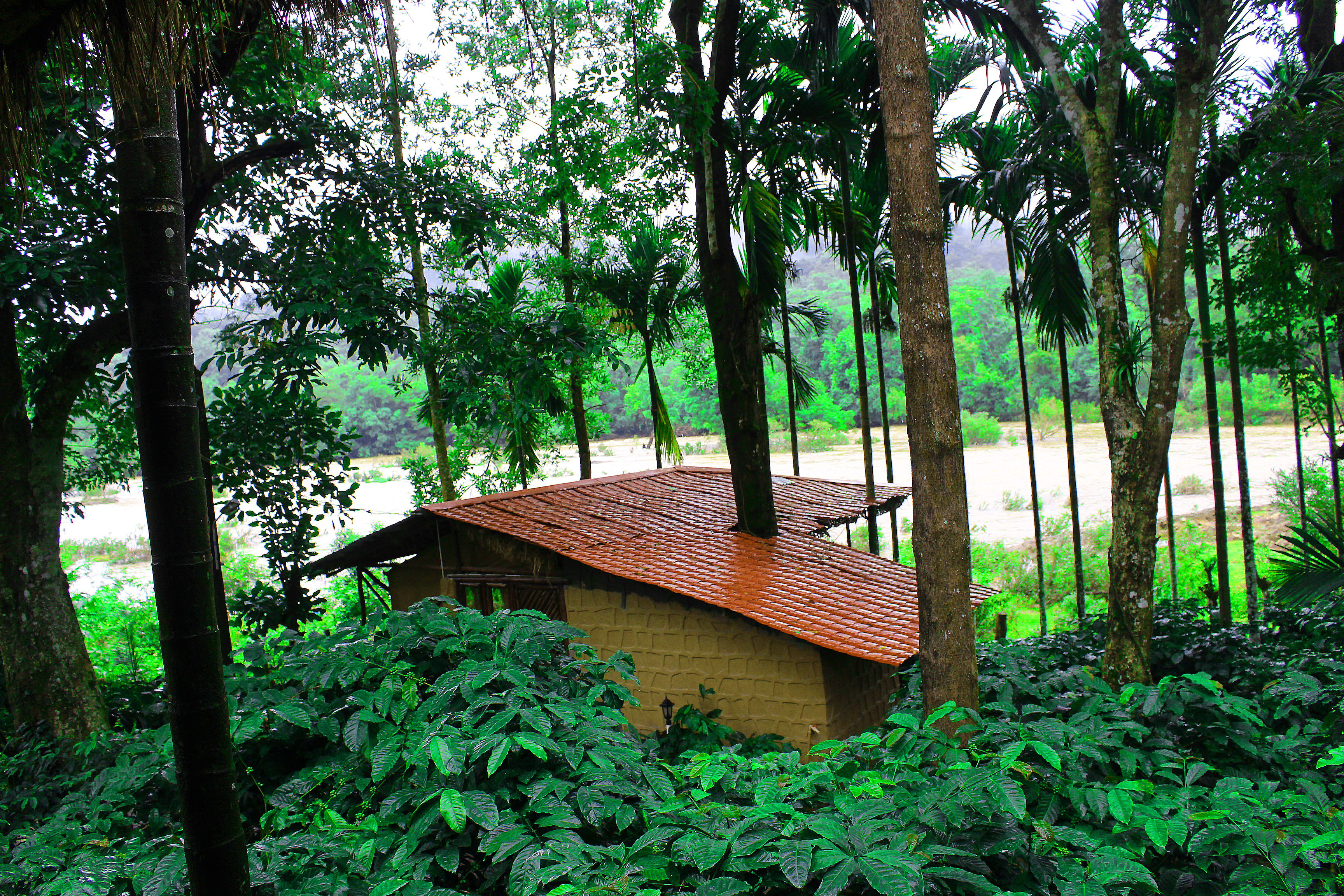 Shanthi Kunnj tent house from restaurant