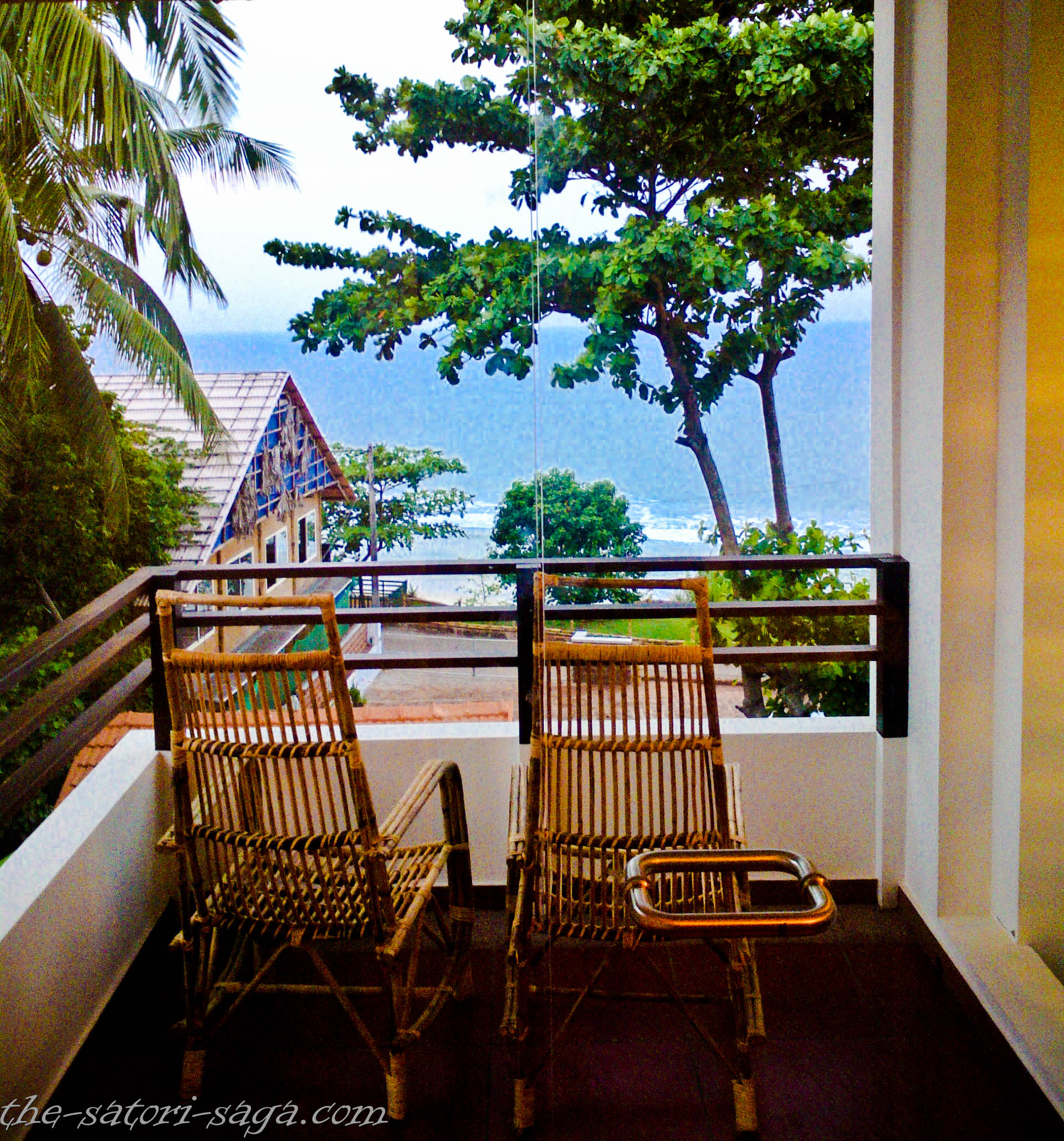 Balcony of hotel Thanal